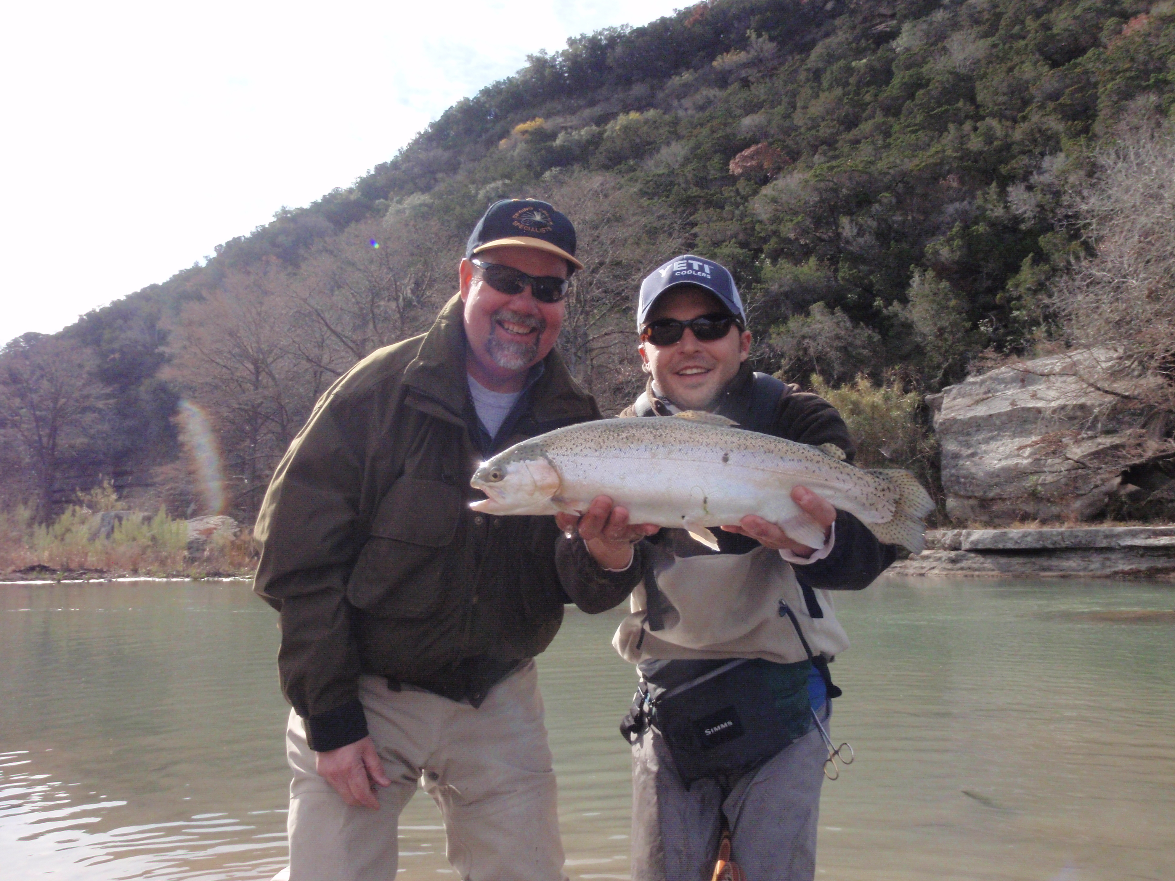 Guadalupe river fly fishing report 12 21 09 for Guadalupe river trout fishing
